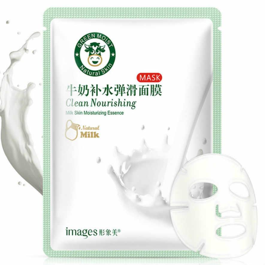 1 adet Yeni Cilt Bakımı Bitki Yüz Maskesi Nemlendirici Kontrolü Siyah Nokta Remover Sarılmış Maske Yüz Bakımı Süt Nemlendirici Pürüzsüz Maske