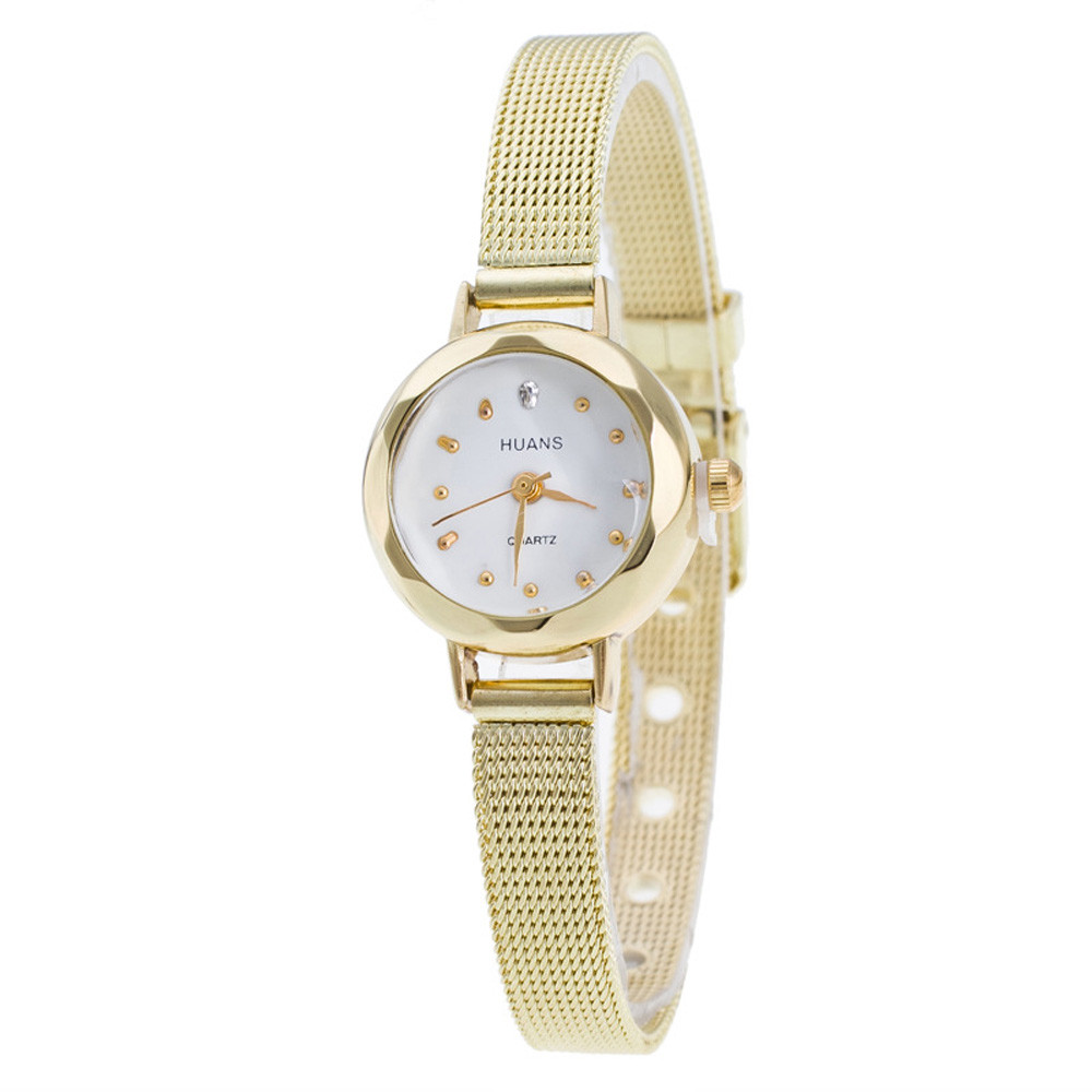 2016 new quartz watch women stainless dress Women Ladies gold sliver Mesh Band Wrist Watch diamond bracelet watches 2016 women diamond watches steel band vintage bracelet watch high quality ladies quartz watch