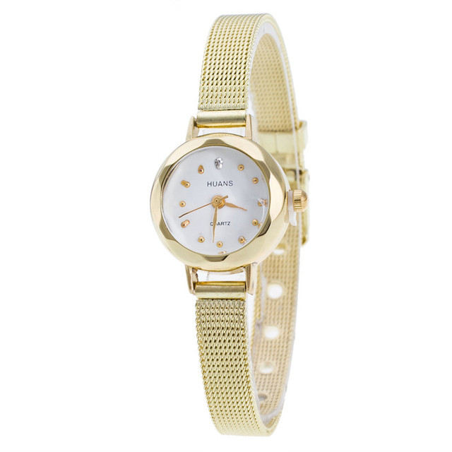 2016 new quartz watch women stainless dress Women Ladies gold sliver Mesh Band W