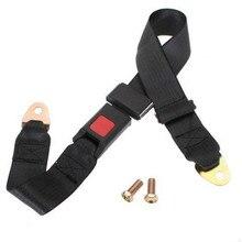 Triclicks Universal Car Seat Lap Belts Auto Truck Travel 2 Point Adjustable Belt Retractable Safety Black Seatbelt
