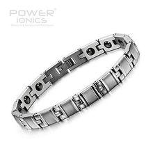 Power Ionics Titanium Magnetic Bamboo Style Bracelet Balance Band Energy
