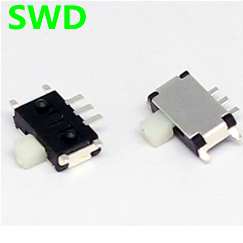 MINI micro Slide Switch On-OFF 2 Position 1P2T SPDT Miniature Horizontal Slide Switch SMD 7 Pin #DSC0011 new 50pcs lot miniature slide switch spdt 3 pin pcb 2 position 1p2t side knob handle high 3mm sk12d07vg3