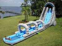 Inflatable Big Slide With The Water Pool Game
