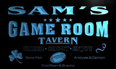 x0192-tm Sams Tavern Game Room Custom Personalized Name Neon Sign Wholesale Dropshipping On/Off Switch 7 Colors DHL