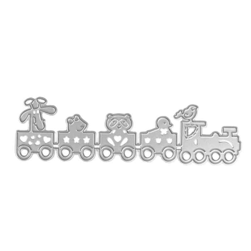 Cutting Dies Scrapbooking Dies Metal Cartoon Train for DIY Scrapbooking Photo Album Decorative Embossing Stencil