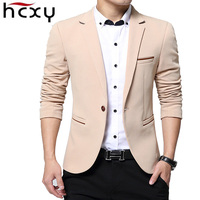 HCXY Fashion Men Blazer Casual Suits Slim Fit Suit Jacket Men Sping Costume Homme Terno Masculin