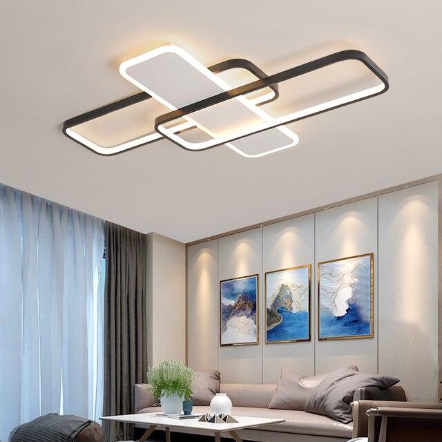 VEIHAO New Arrival Black White Finish Modern LED Ceiling Lights For Living Room Bedroom Study AC85-265V Ceiling Lamp fixtures