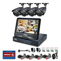 """ANNKE 4CH 720P Hybrid DVR with 10.1"""" Adjustable LCD Screen Monitor Night Vision 4 channels Security Camera System"""