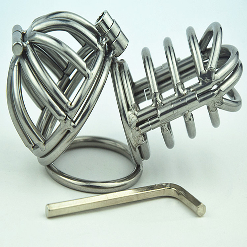 New Small Double Cock Ring Male Chastity Device Stainless Steel Chastity Belt Penis Rings Sex Toys For Men Erotic Toys sex shop small male penis confinement chastity cage metal cock ring cockring chastity belt toy sex toys for men free shipping