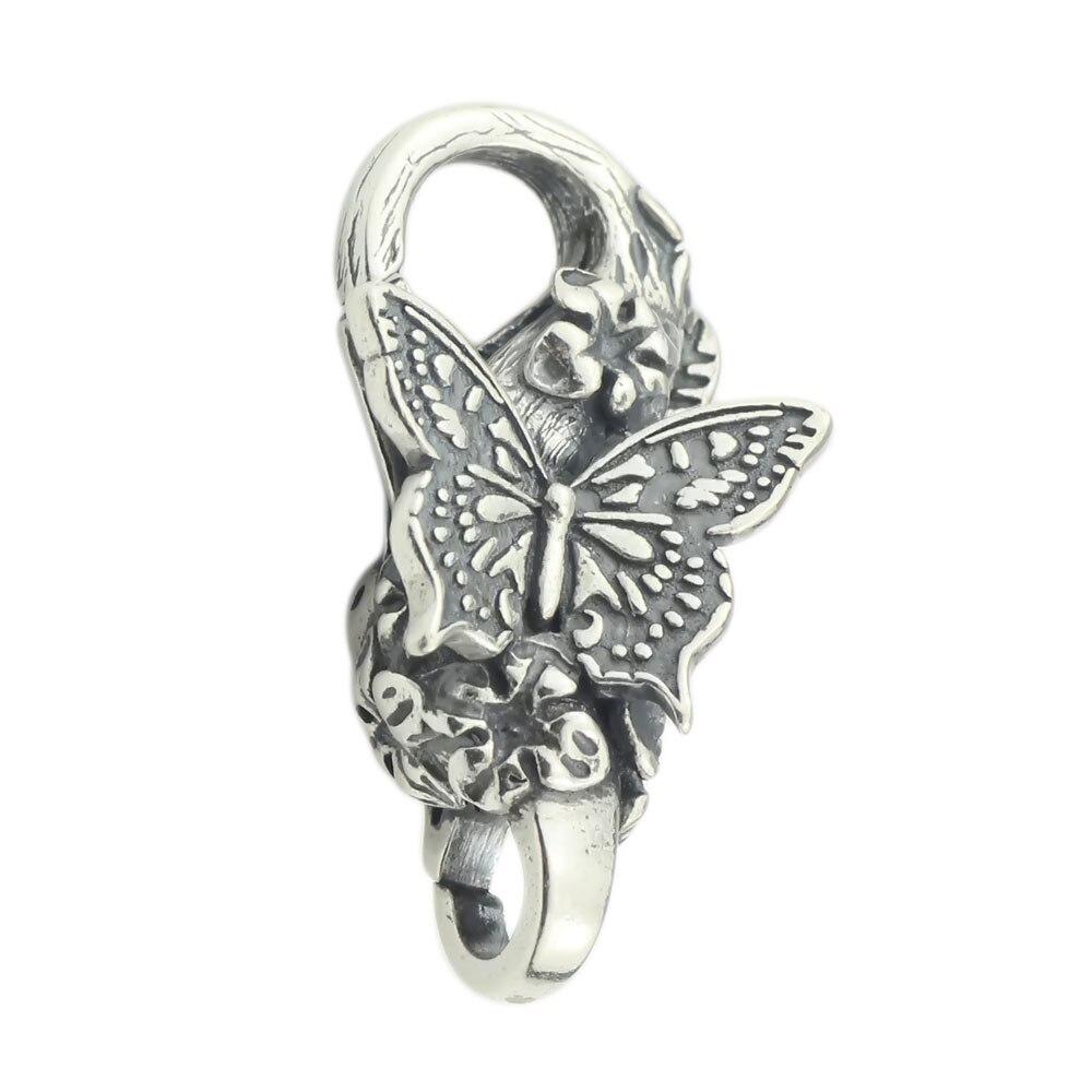 Fermoir à homard papillon authentique 925 argent Sterling charmes de serrure de papillon adaptés à la fabrication de bijoux à bricoler soi-même de Bracelet de marque européenne