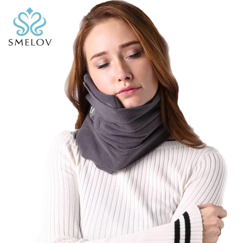 Comfoft sciarpa cuscino da viaggio cuscino del collo portatile ergonomico aereo home office aereo collo poggiatesta pisolino Sonno Massaggio cuscini