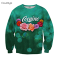 Newest 2016 Casual Men Pullover Popular women/men printed leaf flowers pullover 3d fashion sweatshirt
