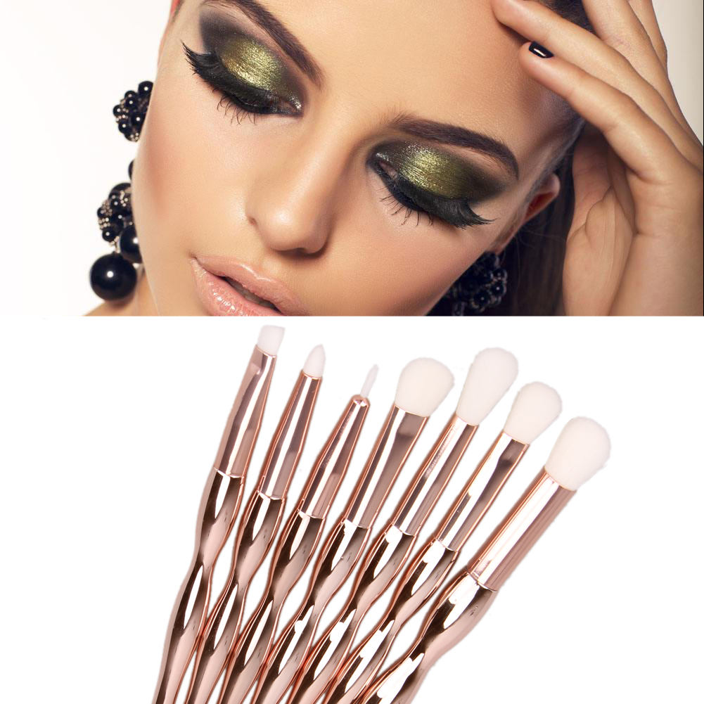 7pcs Makeup Brush Set Colorful Glitter Diamond Handle Makeup Tools Blush Powder Eyebrow Eyeshadow Face  make up brushes aquarium liquid glitter brush set mermaid makeup brushes bling bling glitter handle make up brush kit pincel sereia maquiagem