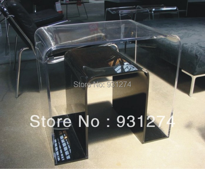 ONE LUX Clear Acrylic u-turn Table,lucite magzine table,perspex furniture,acrylic furnishing 180 days warranty100