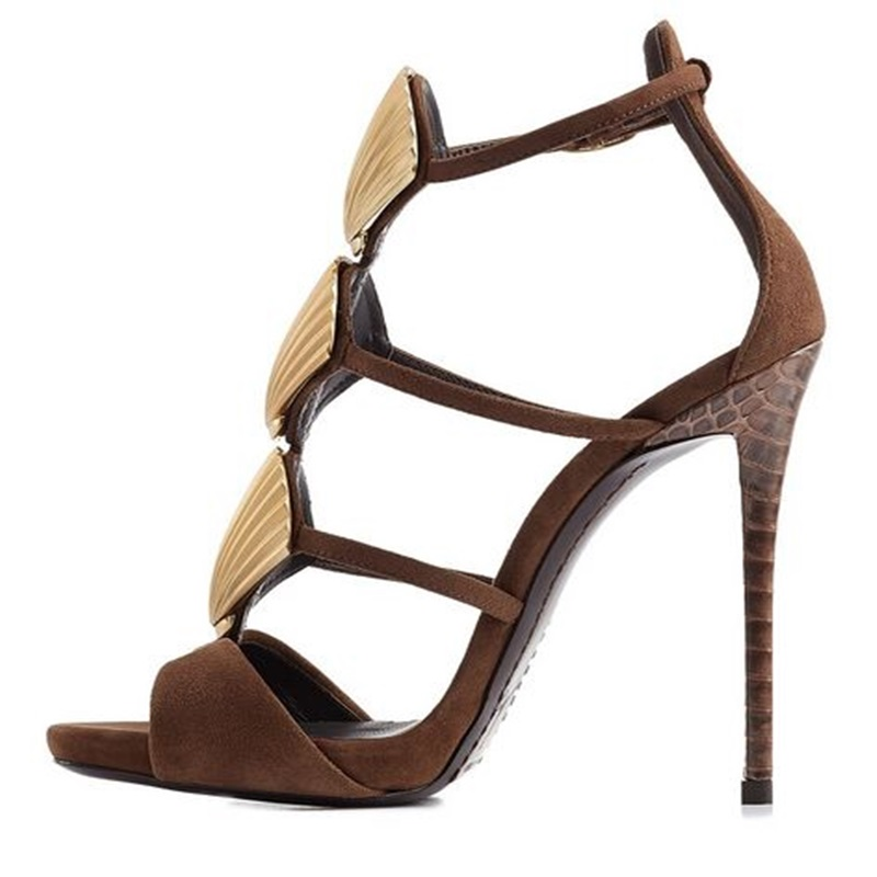 Women Sandals Shoes High Heels Summer 8 Cm Up Gladiator Shells Sandals Narrow Band  Buckle Strap Sandals Open Toe Size 35-44 summer women high heel sandals super high thin heels cross tied narrow band open toe lace up women cutouts shoes black white