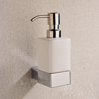 CLOUD POWER Chrome Liquid Soap Dispenser And Holder With Brass Whole Copper Bathroom Shower Soap Dispenser