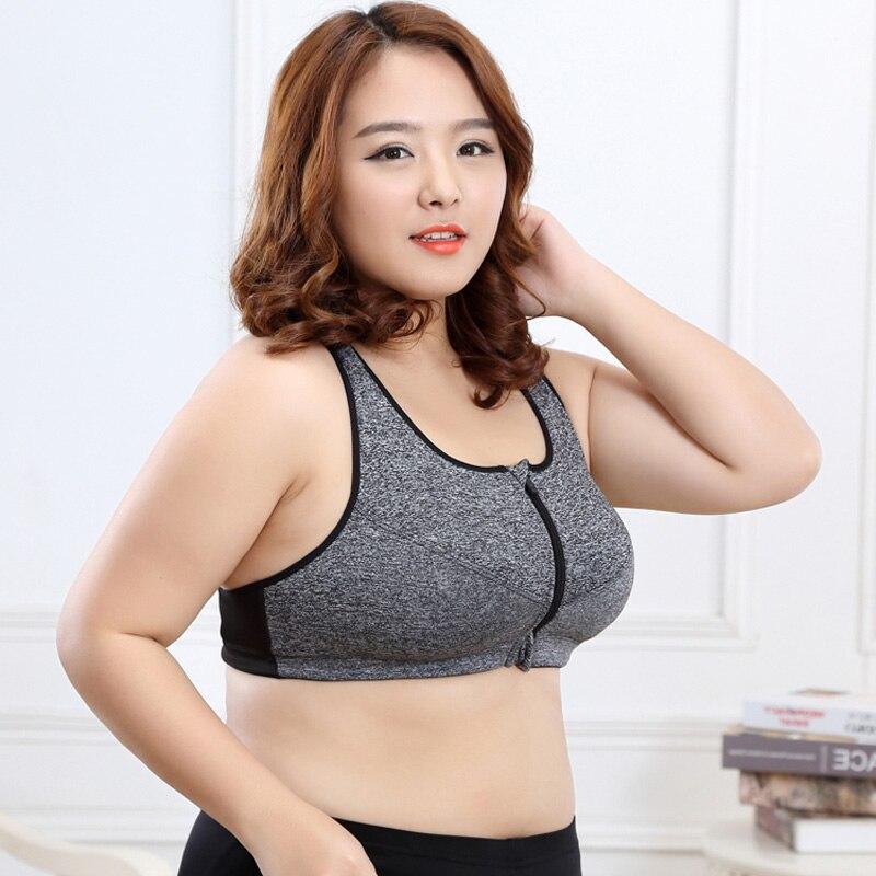 Prix pour GRAND GRAND taille Professionnel Niveau 4 Stretch sport bras à séchage rapide yoga sous-vêtements femmes courir GYM fermeture éclair Sangle Réglable