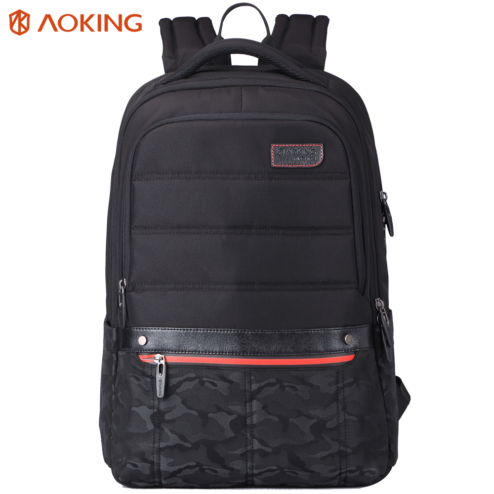 Aoking Backpack Men Leisure Style Waterproof Zipper Backpacks For Teenagers Large Capacity Camouflage Fashion School Bags