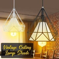 Hanging light lampshade 1/2pcs vintage retro metal shade industrial pendant ceiling kitchen fixture
