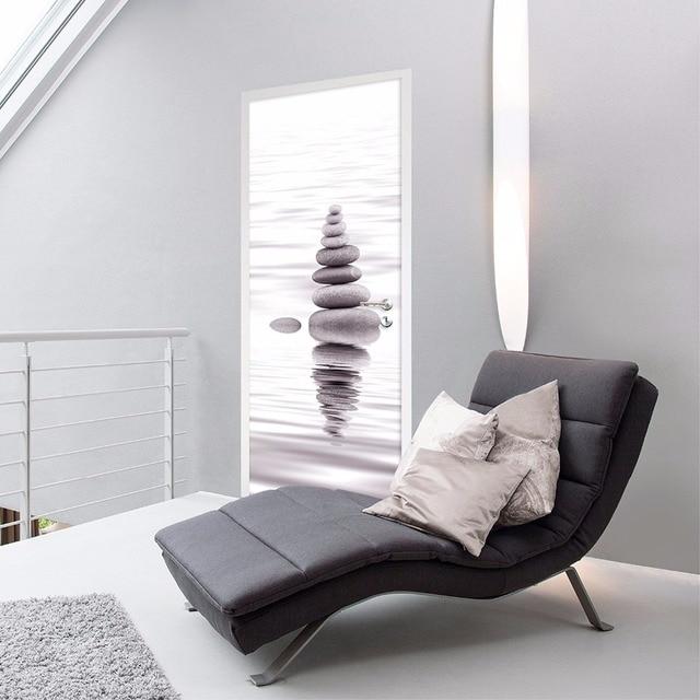 US $21 68 34% OFF|Free shipping 3D Lighting river rocks Wall Stickers DIY  Mural Bedroom Home Decor Poster PVC Waterproof Door Sticker 77x200cm-in  Wall