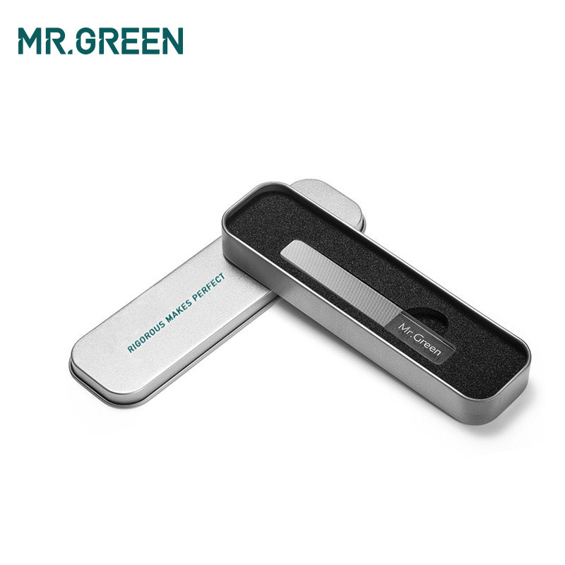 Image 5 - MR.GREEN nail file Nanometer Glass file Professional Nail Polishing Manicure Nail Art Tools Pedicure with a metal box-in Nail Files & Buffers from Beauty & Health