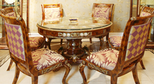 exquisite workmanship European style woodcarving round table