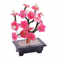 Chinese Jade Plum Blossom Flower Tree Carving G1208