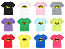 2018 Summer Boys Girls Batman T Shirts Children Cotton Spiderman T-shirt baby Tees Kids Clothes for 1-14 Years 12 colors(China)