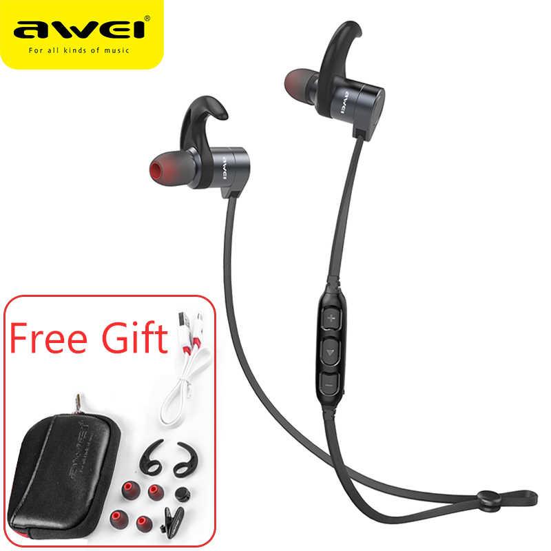 AWEI AK3 беспроводные наушники Bluetooth наушники с магнитным управлением вкл/выкл IPX4 водонепроницаемая Спортивная Беспроводная гарнитура наушники с микрофоном