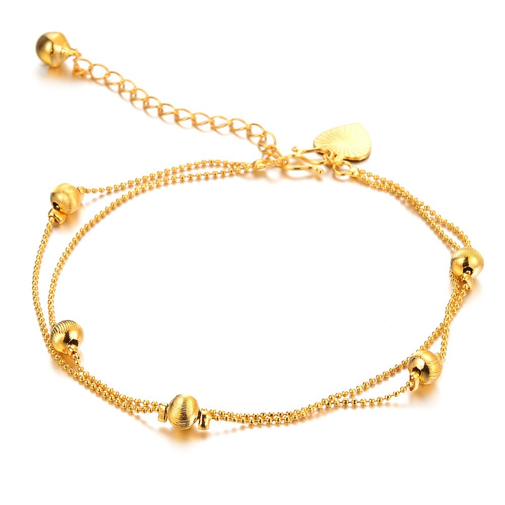 OPK Women Girl Chic Nice Gold Plated Tone Love Charm Anklet Ankle ...