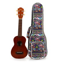 Hot Musical Instruments Ukulele National Wind Yukeli Liqin Bag Shoulder Belt Design Suitable Travel Outdoor Performance Training