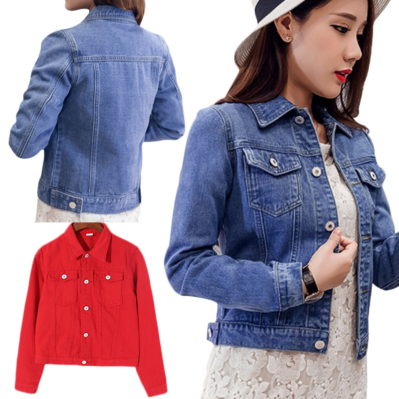 174936f637fd Women Denim Jacket 2019 Spring Summer Women s Denim Jacket Denim Jacket  Female Jeans Coat Casual Outwear
