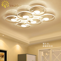 Surface Mounted Modern Led Chandelier For Living Room Bedroom Dining Room Home Deco Square Aluminum Ceiling