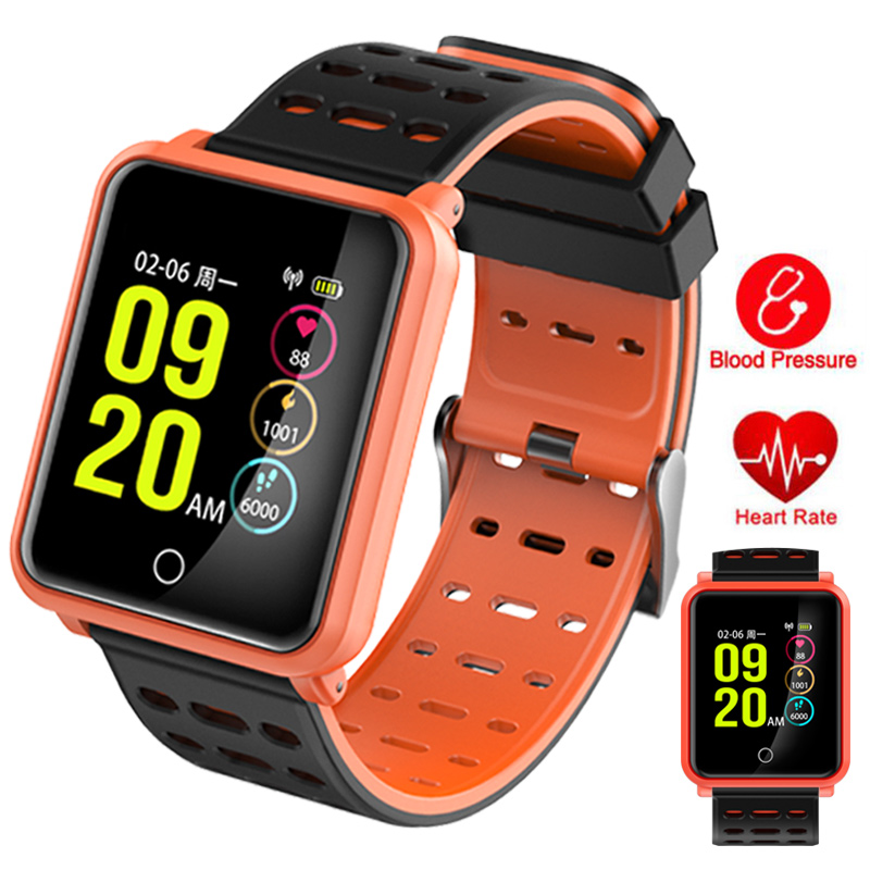 Heart Rate Monitor Multi-function Smart Bracelet Watch Sport LED Touch Smart Watches Pedometer Alarm Clock Function for Android