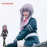 Seraph Of The End Hiiragi Shinoa High Quality Heat Resistant Synthetic Wig Light Purple Sexy Synthetic