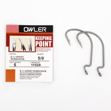 1 pack 5/0#-6#  B-11 Offset Worm Hook Fishing 9 Sizes Crank Sharp Fishhook Strength hook owner