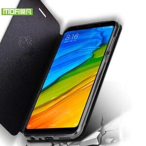 Image 5 - Para Xiaomi Redmi Nota 5 Pro caso Para Xiaomi Redmi Nota 5 Pro case capa bolsa em couro flip Mofi Para Capa de silicone caso Xiaomi Nota Redmi 5