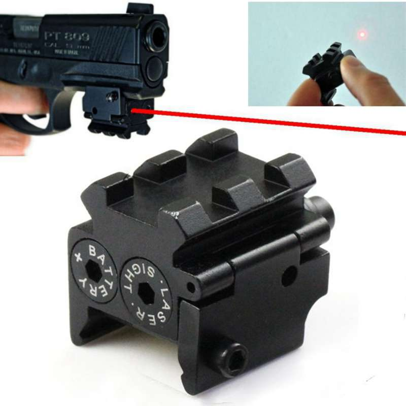 Mini Adjustable Compact Tactical Red Dot Laser Sight Scope Fit For Pistol Gun 20mmr Rail