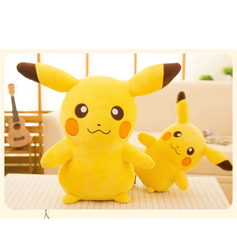 Cute Pikachu Plush Toy , 20/25/35/45cm Cute Big Eyes Dolls For Children Toy ,High Quality PP Cotton Brinquedos Kids Gift 2016 new arrival men winter martin ankle boots pu leather high quality fashion high top shoes snow timbe bota hot sale flat heel
