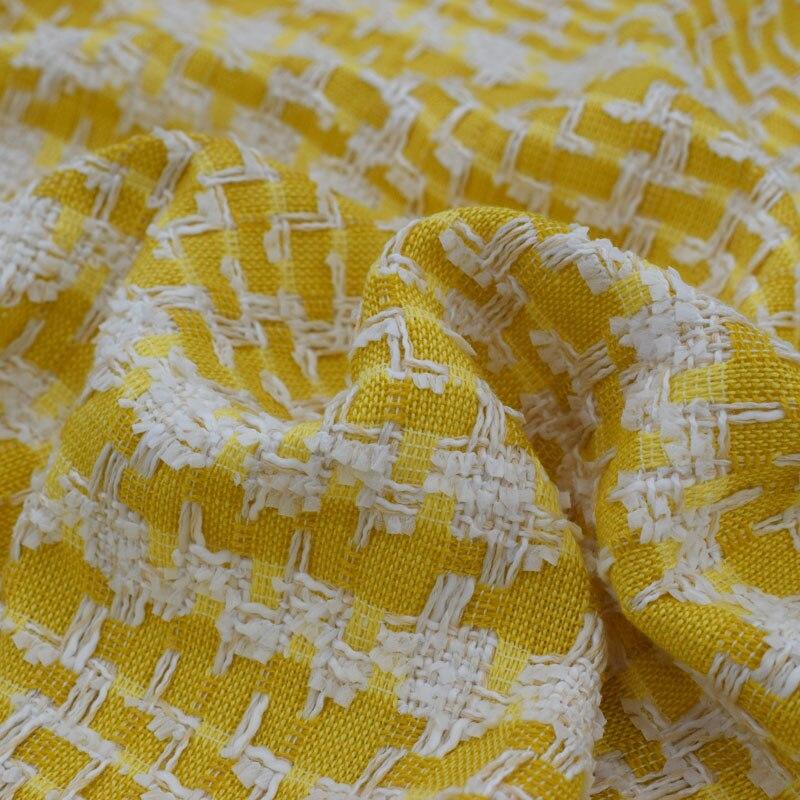 2018 nouvelle mode Gingembre tissage tweed tissu pour robe manteau bazin riche getzner tissus au mètre telas por métros minable chic DIY