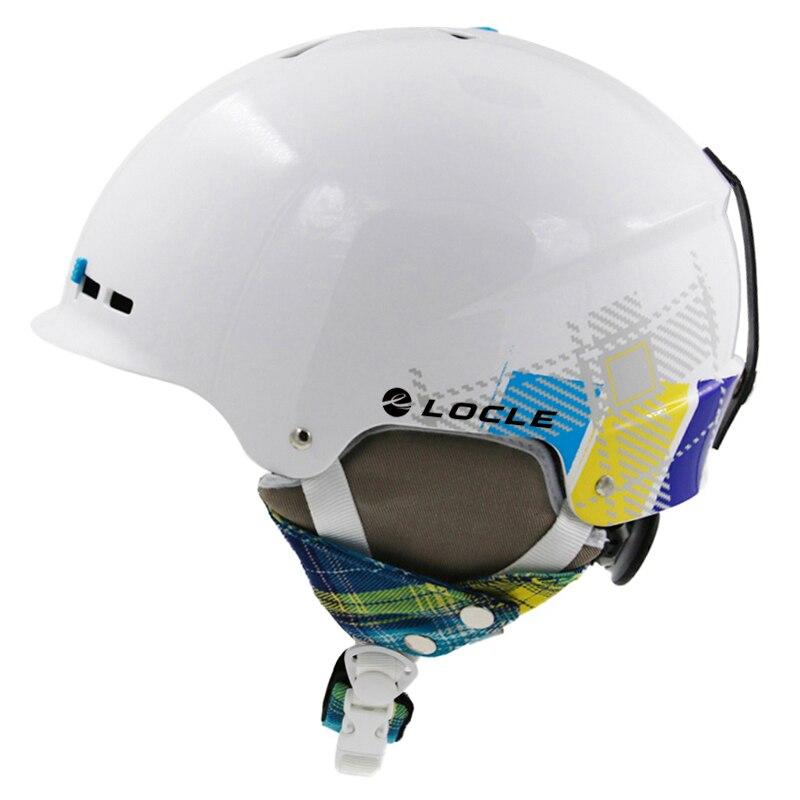 Ski Casque De Ski De Sécurité Casque Hommes Femmes Neige Casque Ski Snowboard Planche À Roulettes Casque ABS + EPS CE Certification