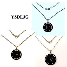 2019 new style Geometric figure Glass Cabochon Pendant Necklace For fashion Women Men Jewelry Gifts(China)