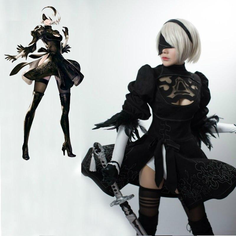 Nier: Automata YoRHa №2 Model B Cosplay Geyim Uniformaları Qadın - Karnaval kostyumlar - Fotoqrafiya 1