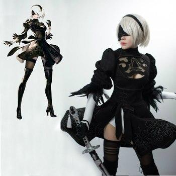 Nier: Automata YoRHa No. 2 Model B Cosplay Dress Uniforms Women's Halloween Costumes Custom Made