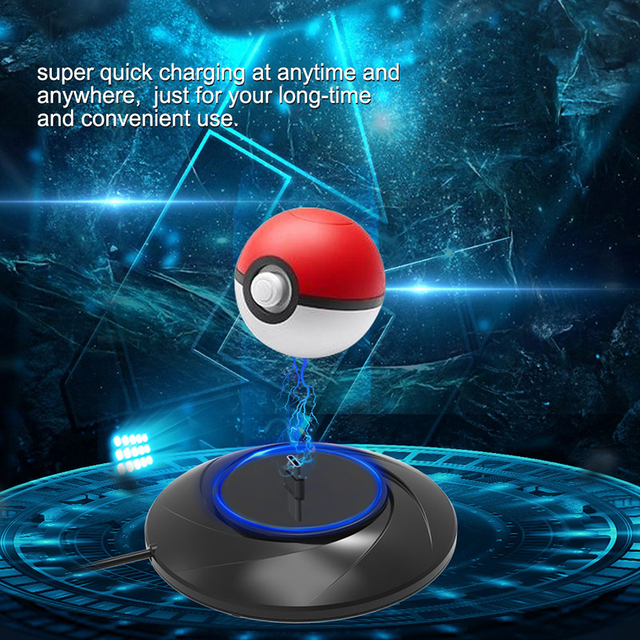 Nintend Switch NS Poke Ball Plus LED USB Charging Dock Station, Pokeball Plus Charger for Nintendo Switch Gaming 4