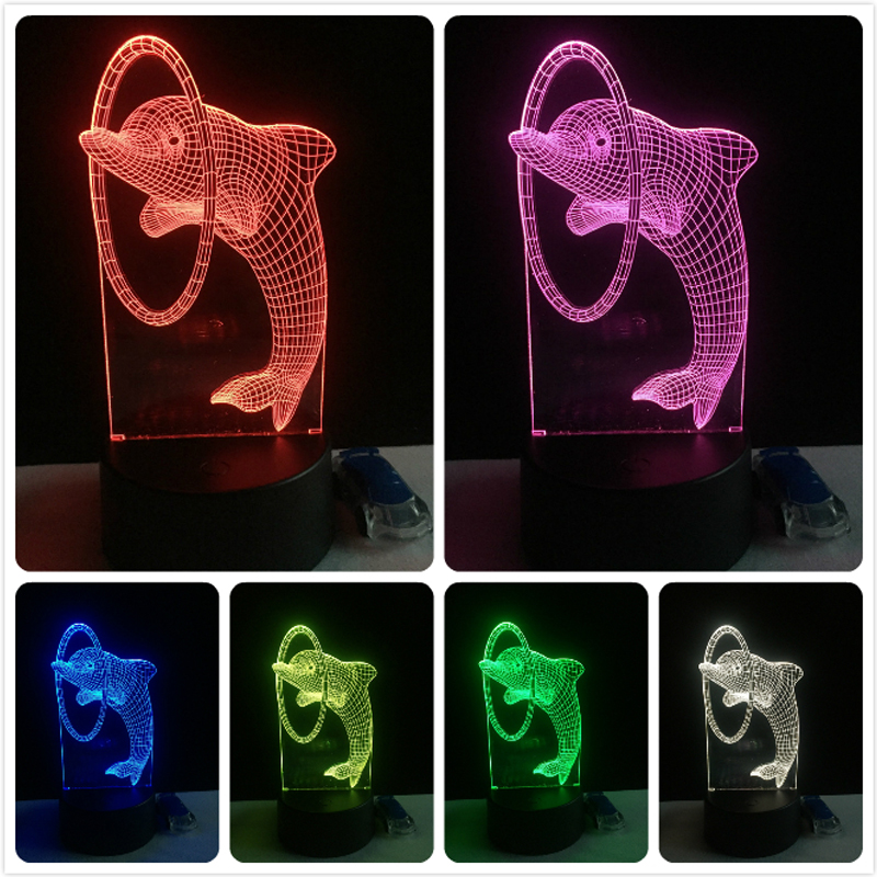 Luzes da Noite 7 cores mudando a luz Formato : Animal
