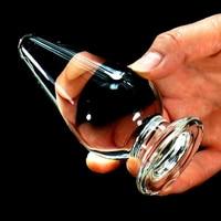 11 * 5 см большой стакан анальная пробка фаллоимитатор большой анальный бусины задницу G - стимулятор точки массажер кристалл секс игрушки жен...