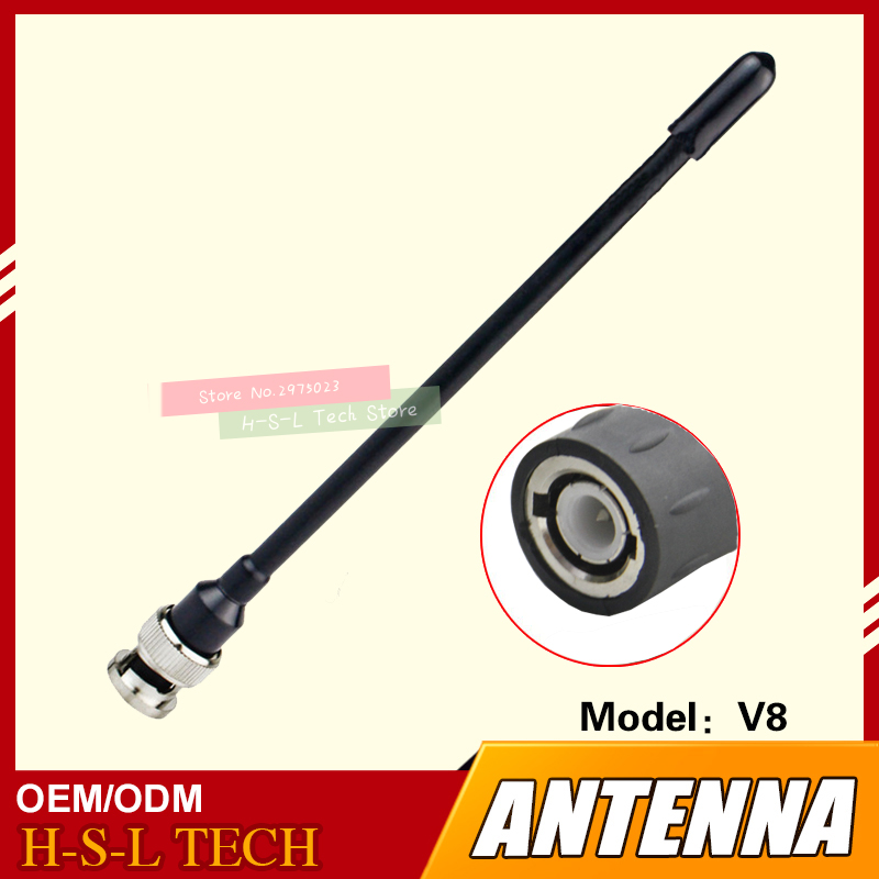 Walkie Talkie Rubber Antenna 400-470Mhz UHF Interface Two Way Radio Antenna For ICOM IC-V8 IC-V82 IC-V85 VX500 F3S <font><b>VX200</b></font> F4 image