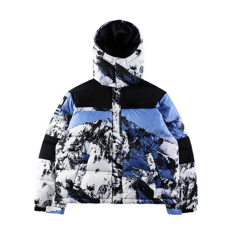 Rembourré Épais Capuche Style Coton Hiphop Veste Hommes Hiver Femmes Vestes Meilleure Qualité Imprimé 2018 À Snowberg Streetwear Manteaux ga8zxqw