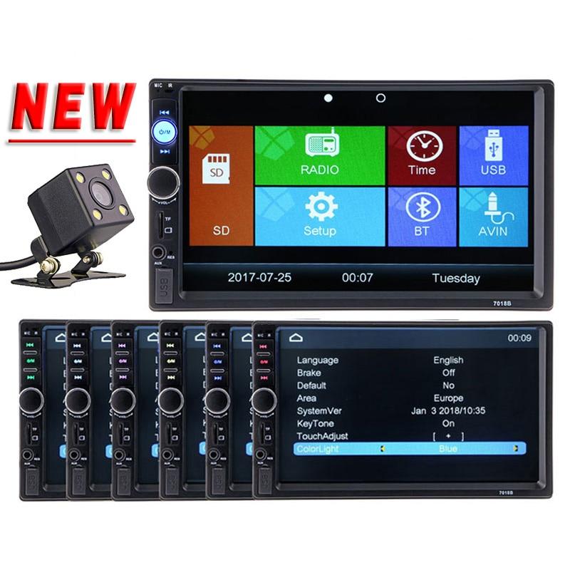 Car Video Player 2 din 7 HD Bluetooth Steering-wheel Stereo FM Radio MP3 MP4 MP5 Audio USB Auto Electronics autoradio NO DVD цена